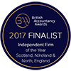British Accountancy Awards 2017 Finalist - Independent Firm of the Year Scotland, N.Ireland & North, England